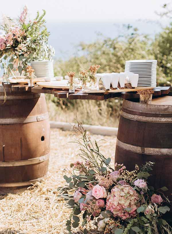 Holzfass-Bar für Hochzeit & Event in Koblenz und Umgebung